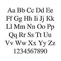 Times New Roman Alphabet Stencil – 3 inch – 7.5 mil standard Review
