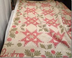 Quilt dated 1847 by Sarah LaFever.  Collection of the Huguenot Street Museum in New Paltz, New York.