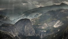 A Darker Side of Yosemite Washburn Point CA  #landscape #darker #yosemite #washburn