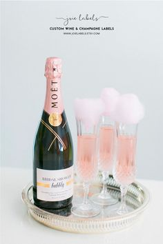 Custom Champagne Bottle Label for Bachelorette Party, Bridal Shower, Bridal Suite or Baby Shower! Mi