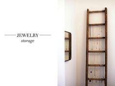 Jewelry display ladder
