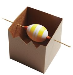 How to paint stripes on a blown out Easter egg!