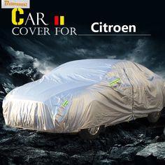 Buildreamen2 Car Cover Auto Anti-UV Sun Shield Rain Snow Protector Cover Waterproof For Citroen C-Elysee Xsara C2 C1 C4 C6