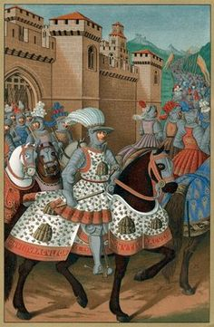 King Louis XII riding out with his army Postcards, Greetings Cards, Art Prints, Canvas, Framed Pictures, T-shirts & Wall Art by Corbis