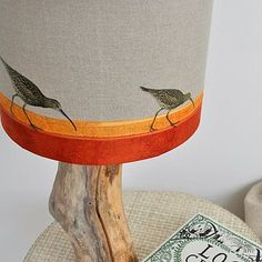 Curlew On The Shore Linen Lampshade - dining room Linen Bedding, Bed Linen, Bedding Sets, Crib Sets, Painting Lamp Shades, Large Table Lamps, White Lamp Shade, I Love Lamp, Standard Lamps