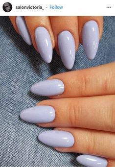 14 To Consider For Almond Nails Designs Short Simple 48 Nail nails Nageldesign - Lavender Nail Polish, Lavender Nails, Shellac Nails, Glitter Nails, Acrylic Nails, Polish Nails, Coffin Nails, Silver Glitter, Manicures