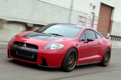 Mitsubishi Eclipse ♥ in red - by far my most favorite car of all