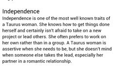 Taurus<< True, but I'm shy and insecure so I generally don't lead a project.