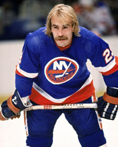 Mr Stanley Cup-Bobby Nystrom, New York Islanders.  Still has his jerseys from late '70's