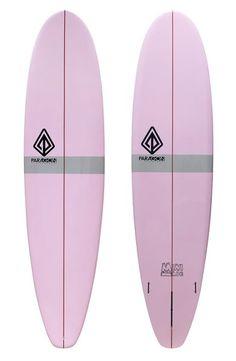 "Paragon Mini-Log 7'8"" Pink-Grey Surfboard"