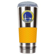 Golden State Warriors 24-Ounce Draft Stainless Steel Tumbler, Yellow