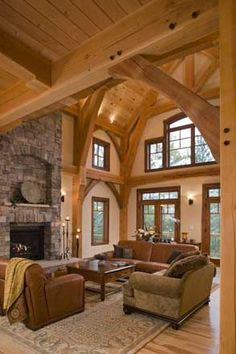 Gorgeous timber frame