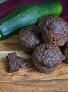 Muffins chocolat courgette vegan sans matière grasse