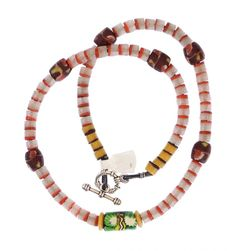 African Trade Beads Necklace #1355 | Necklaces | Jewelry — Deco Art Africa - Decorative African Art - Ethnic Tribal Art - Art Deco