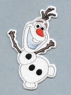"Olaf Lover Magnet - Frozen Olaf Magnet - HIGH QUALITY EMBROIDERED  3  1/8"" H"