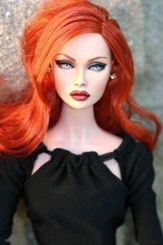 Poppy Parker Doll - Red hair and lips Barbie I, Barbie Dress, Fashion Royalty Dolls, Fashion Dolls, Lifelike Dolls, Realistic Dolls, Diva Dolls, Poppy Parker, Beautiful Barbie Dolls