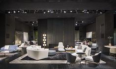 Seymour seating system, Leslie armchair collection, Rodolfo Dordoni Design