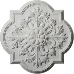 Ekena Millwork Bonetti 20''H x 20''W x 1.75''D Ceiling Medallion, Multicolor