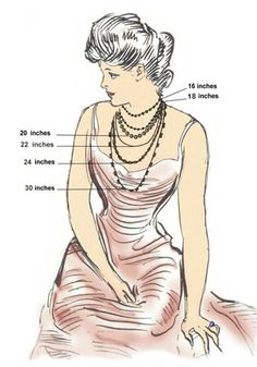 necklace size guide.