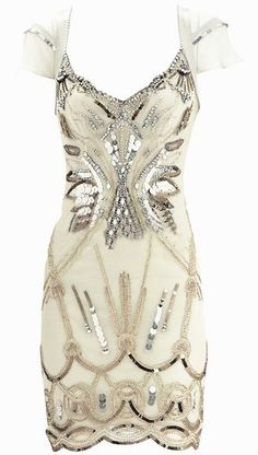 White Bejeweled Dress - um, i am ready to be bejeweled now