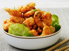 Almost-Famous Spicy Fried Shrimp recipe from Food Network Kitchen via Food Network
