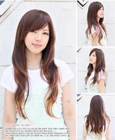 New Style Womens Girls Sexy Long Fashion Full Wavy Hair Wig 3 Colors Available