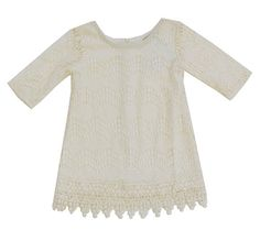 Little Mass clothing and dresses for girls Girls Boutique Dresses, Girls Dresses, Dress Outfits, Lace Dress, Ivory, Neckline, Clothes, Shopping, Tops