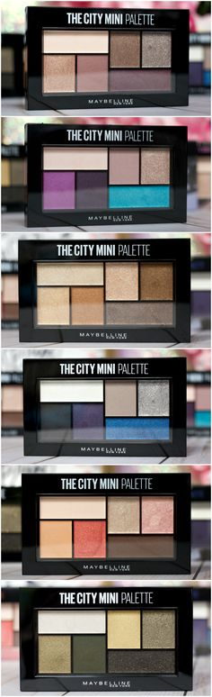 NEW! @Maybelline The City Mini Palettes Review
