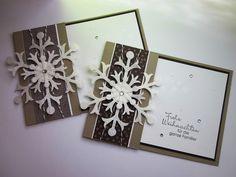 stampin with fanny: Steckkarte mit Schneeflockenstanze