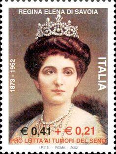 Emesso il 2 marzo 2002 0,41 € + 0,21 € - Ritratto della regina Elena di Savoia