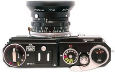 The limited edition black Nikon SP 2005 is a reproduction of the original 1957 Nikon SP except for minor details.