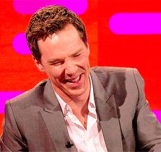 (gif)  He's so adorable when he laughs.