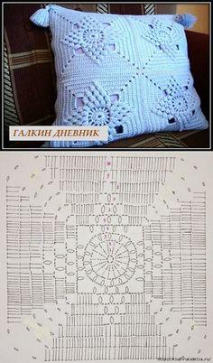 Best 11 Silvina Ponzio's media content and analytics – SkillOfKing. Crochet Bedspread Pattern, Crochet Edging Patterns, Crochet Motifs, Granny Square Crochet Pattern, Crochet Diagram, Crochet Squares, Crochet Doilies, Crochet Cushion Cover, Crochet Cushions