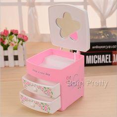 9,12 $ 1 Maquiagem Pc Organizador Cosmetic armazenamento caso Display (cor aleatória) - BornPrettyStore.com