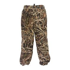 Wildfowler Outfitter Camo Hunting Waterproof Pants  100% WATERPROOF- Taped Seams to keep water out, double waterproof construction. Side zipper and button flap on leg bottoms.QUIET- Soft Tricot Outer Material, great for all types of huntingWICKING BREATHABLE- great for comfort and moisture management.  http://outdoorgear.mobi/product/wildfowler-outfitter-camo-hunting-waterproof-pants/