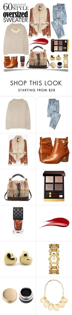 """60-Second Style: Oversized Sweater"" by ittie-kittie ❤ liked on Polyvore featuring mode, The Row, Wrap, Mason by Michelle Mason, Michael Kors, Chloé, Tom Ford, Gucci, Hourglass Cosmetics en Tory Burch"
