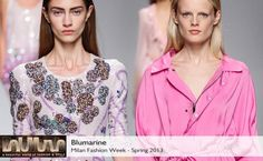 Blumarine Spring 2013 collection #BelleMonde #Fashion #MilanFashionWeekSpring2013