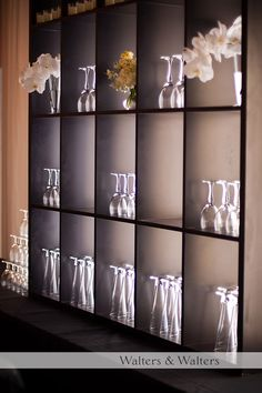 these cool shelves add storage and decor! retail area?