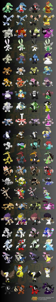 Action Figure Designs by Jason Keyser for Animal Jam.