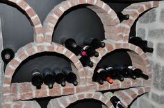 Brick wine rack