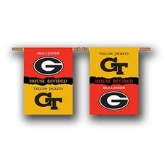 Georgia Tech GT House Divided Rivalry Flag
