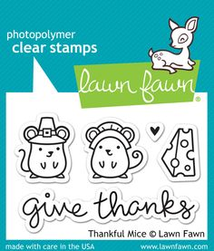 - Thank goodness for cheese! This set of five clear stamps contains two pilgrim…