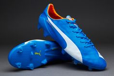 a92334032 Puma evoSPEED SL FG - Electric Blue Lemonade White Orange Clown Fish. Football  ShoesPumasElectric Blue LemonadeBallsCleatsOrangeFishSneakersMen. The new  ...