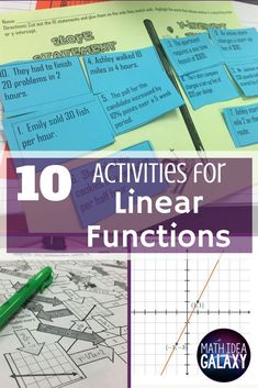10 low-prep linear functions activity ideas that get students the math practice they need. Includes FREE download.