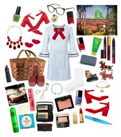 """""""The wizard of Oz: Dorothy 👠"""" by stellastar22 ❤ liked on Polyvore featuring Loeffler Randall, Gianvito Rossi, Miss Selfridge, Falke, Picnic Time, Joy To the World, House of Fraser, MICHAEL Michael Kors, Yves Saint Laurent and Diamondere"""