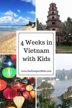 4 week itinerary in Vietnam with kids. Ho Chi Minh City, Hanoi, Halong Bay, Hue, Da Nang, Hoi An, Mekong Delta and Phu Quoc. How we explored all these places in Vietnam with kids.