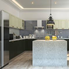 Trims On The Cabinets Gives This Black And White Modular Kitchen A  Traditional Vibe.