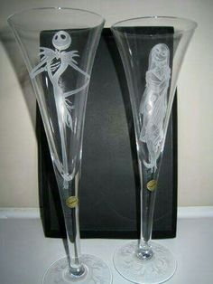 Cute wedding flutes