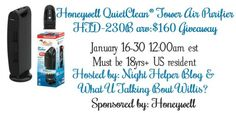 Honeywell Tower Air Purifier Giveaway