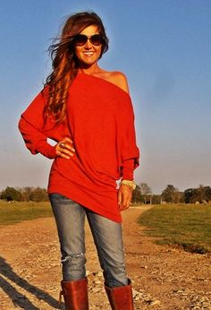 X-Long Off Shoulder (more colors)-super cute!